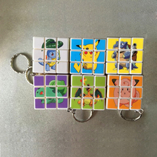 Anime Cute Pattern Naruto Kitty Cat pvc sticker Cover magic Speed puzzle Cube fidgets Cube Creative keychain Classic toy For kid