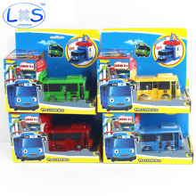 (LONSUN)Korean Cartoons Garage Tayo The Little Bus Model Children Mini Tayo Bus Baby Pull Back Car Christmas Gift Oyuncak