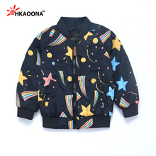 Children's Baseball Clothing Star Flight Flying Jacket Coat For Baby Boys Girls Fashion Star Kids Clothes Christmas Gifts