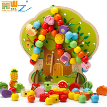 Popular kids baby toys for children gift girls boys 1 2 3 years preschool kindergarten educational wooden toys hobbies 3d puzzle(China)
