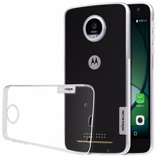 NILLKIN Nature TPU Transparent clear soft case for MOTO Z Play Luxury back cover for MOTO Z Play with retailed package