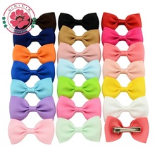 20 Pcs/lot Small Bowknot Hairgrips Mini Sweet Solid Ribbow Bow Safety Hair Clips Kids Hairpins 643