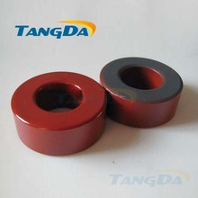 Tangda Iron powder cores T184-2 OD*ID*HT 47*24*18.5 mm 24nH/N2 10uo Iron dust core Ferrite Toroid Core Coating Red gray