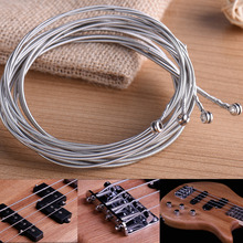 Bright And Crisp Sound And Great Texture Suitable For Four-string Bass Set of 4 String Bass Guitar Parts 4 Steel Silve Plated