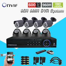 TEATE home video surveillance security camera system 600TVL 8ch 960H cctv HDMI 1080P USB 3G WIFI DVR video recorder kit CK-238(China)