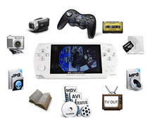 Hot sell 4.3 Inch Ultra-Thin Handheld Game Player 8G Built In Memory Video Game Console MP5 Music Player White & black