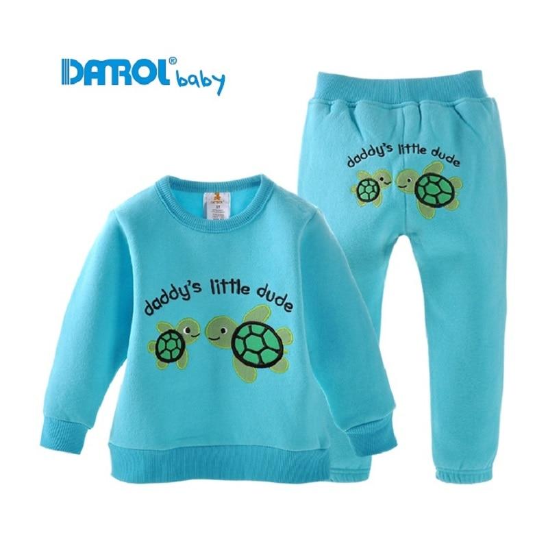 Danrol Children Clothes Suits Winter Warm Fleece Boys trouser Sweatshirts sets Boys Outerwear Girls outfits Kids Sport Suit <br><br>Aliexpress