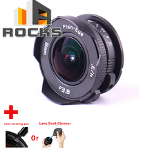 Camera 8mm F3.8 Fish-eye suit For Micro Four Thirds Mount Camera + Lens cleaning pen or Lens Dust Cleaner