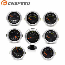 "CNSPEED Carbon Fibre Face 2"" 52mm Car boost gauge bar psi water temp oil temp oil press gauge voltmeter tachometer Vacuum Gauge(China)"