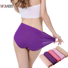 Bamboo Panties Women Daily Underwear Purple Thin Breathable Female Big Size Briefs Brand Design Ladies Panties Intimates Panty(China)