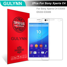 Buy 2Pcs/Lot GULYNN Amazing 2.5D 9H Tempered Glass Sony Xperia C4 E5303 E5333 E5306 Screen Protector Glass Film Tough Package for $3.77 in AliExpress store