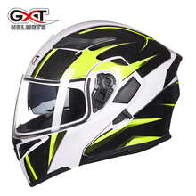 GXT Flip Up helmet Motorcycle Helmet motos casco capacete Modular helmets With Inner Sun Visor safety double lens racing helmets(China)