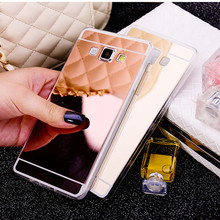 Luxury Plating Mirror Soft TPU Case For Samsung Galaxy A5 A500 A7 J3 J5 J7 2015 J1ACE A8 Protector Phone Shell Cover Coque