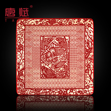 Brocade mouse pad Chinese wind silk mouse pad gifts to foreigners silk handmade mouse mat(China)