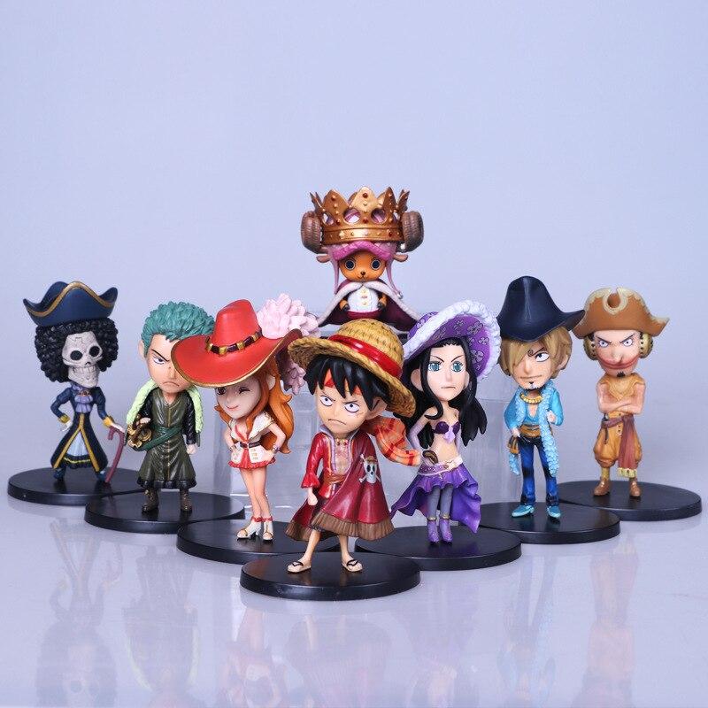 Anime new 9pcs/set one piece pvc action figure Luffy Zoro Sanji Nami Robin Usopp Chopper figure collection gift model toys <br>