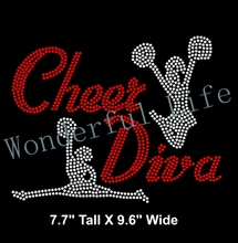 Free shipping Iron On Rhinestone bling rhinestone  Transfer Cheer Cheerleading Iron on Cheer Div