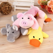 Pet Puppy Chew Sound Toys Squeaker Squeaky Plush Sound Duck&Pig&Elephant Cartoon Toys For Dog