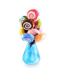 Lollipop Towel NEW Washcloth Towel Gift Bridal Baby Shower Wedding Party Favor