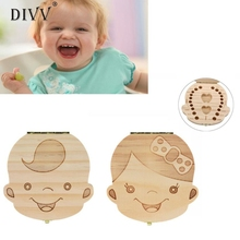 Tooth Box organizer for baby Milk teeth Save Wood storage box for kids Boy&Girl Wonderful3.03