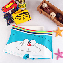 Buy New Girls Cartoon Cute Underwear youth Soft Cotton Seamless Briefs Duck cat Elf Patterned Panties Sexy Female students underwear