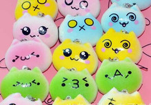 Hot Charms Bread Smell Kawaii Buns Fashion New Cathead Squishies Cellphone Straps Randomly