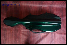 High-grade green glass fiber violin box   4/4 violin case