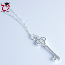 New fashion silver necklace female silver key pendant popular fine jewelry A3169