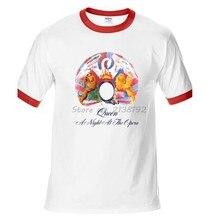 La Reina Freddie Mercury una noche en la ópera huellas de la marca de los  hombres de algodón de t camisa vintage de moda de vera. 925296ab491