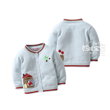girls' sweaters 2017 spring autumn baby sweater girls cardigan sweater coat Children Long Sleeve Knitting Warm Clothing