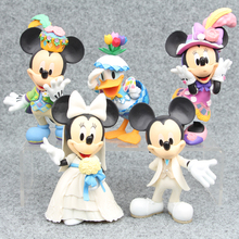 Disney Toys 5pcs/Lot Mickey Minnie Mouse Daisy Duck Figures Playsets Toys Cake Topper Mini Action Figures Anime Brinquedos
