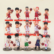 3set 8cm Anime Slam Dunk action Figures Basketball Toys Sakuragi Hanamichi PVC Cartoon Collection Model Toy for kids
