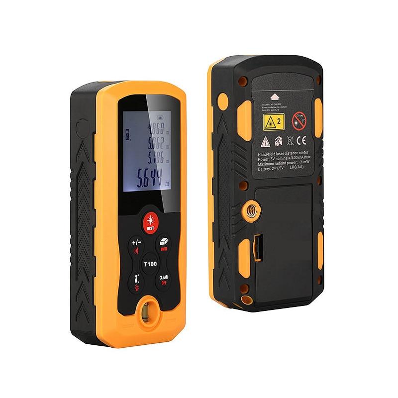 0.05-100M Laser Distance Meter Digital IP54 Dust-proof Precision Rangefinder Hand-held Electronic Measuring Tools<br>