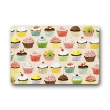 CHARMHOME Elegant Cupcakes Rectangle Entryways Non Slip Doormat Floor Mat Gate Pad Cover Bathroom Rugs Doorway Mats