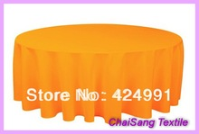 "4pcs 132"" #35  Orange  Round Cloth Made Of  210GSM Polyester, Round  table cloth For Wedding &Hotel&Banquet"