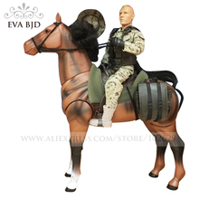 1/6 BJD Doll Soldier dolls Action Figure Justice red division cavalryman Army Model Toys for children with horse DB016-01