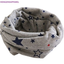 2017 New 100% Cotton Baby Scarf Children Scarves Kids O Ring Collars Autumn Winter Baby Boy Scarf Baby Girl Clothing Accessories(China)