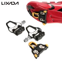 Lixada Road Bike Sealed Pedals SPD-SL Compatible Bicycle Pedal Ultralight Single-sided Clipless Bike Pedal for Road Bike Bicycle