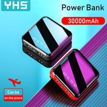 Mini Power Bank 30000mAh For iPhone 8 Xiaomi Mi Powerbank Pover Bank Charger Dual Usb Ports External Battery Poverbank Portable(China)