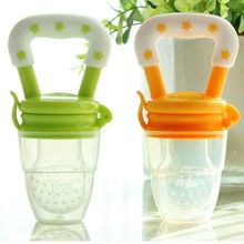 Funny Chupeta Silcone Baby Pacifier Fresh Food Feeder Feeding Nipple Dummy Fruits Nibbler Soother Bottle Clip Chain