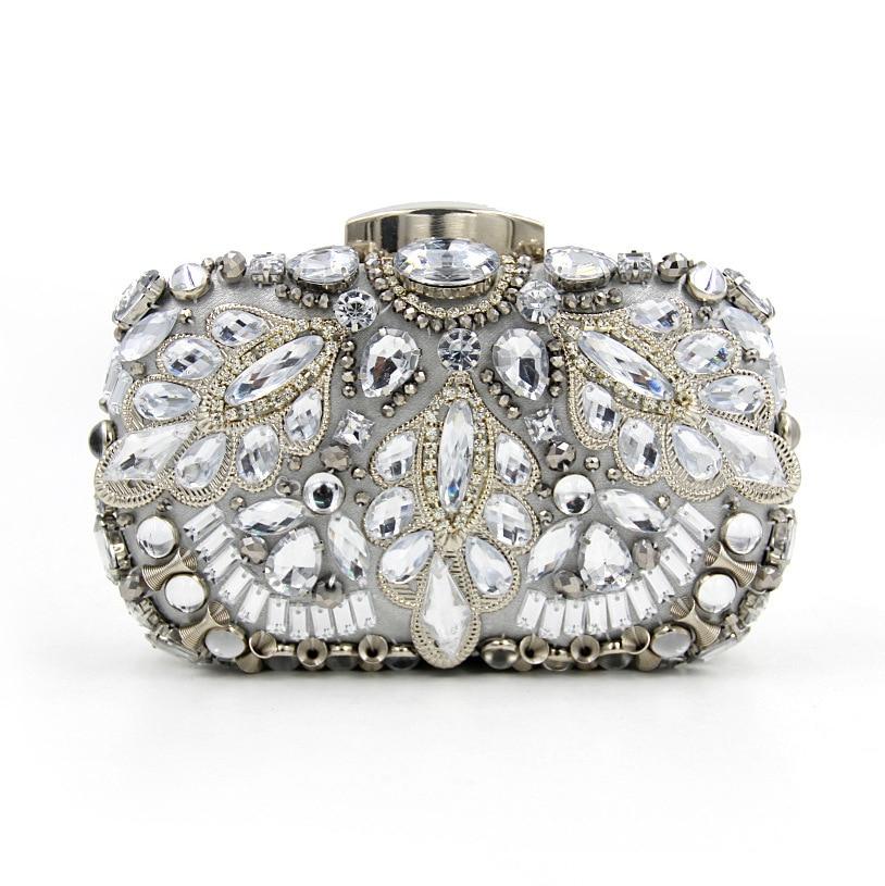 New 2017 ladies heavy industry diamond pearl dinner package high-end luxury dress clutch bag<br><br>Aliexpress