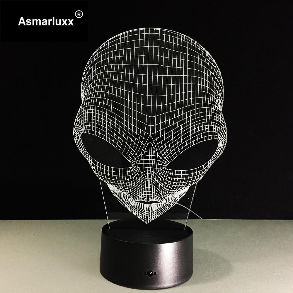 Asmarluxx 3d led lamp9018