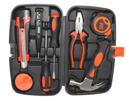Wholesale portable hardware group home use 9 in 1 hardware tool kit<br><br>Aliexpress