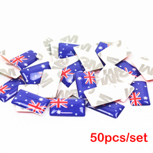 LINGUO 50pcs/lot, New Car styling Australia small Decorative Badge Hub caps Steering wheel for kia infiniti Honda Car Sticker(China)