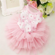 New Luxury Puppy Dog Princess Dress Flower Doggy Kitten Skirt Costume Party Festival Clothes Shirt For Dog Pet Cat+Fast Delivery