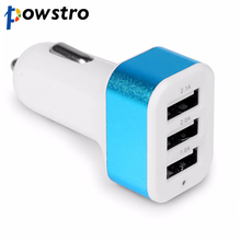 USB Car Charger 3 Port Phone Charger Adapter Socket 2A 2.1A 1A Car Styling USB Charger Universal For Car-Styling(China)