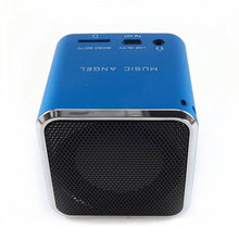 Blue Mini Portable Speaker HIFI Music FM Radio Amplifier Sound festival gift Support USB Micro Line in for SD TF Card MP3 Player