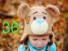 free shipping,20pcs/lot 100% cotton Children Crochet Earflap Caps , New Halloween Cartoon teddy bear hat Baby Crochet Hat  gifts