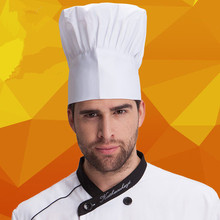2015 Free Shipping High quality chef Hat hotel uniform chef uniform restaurant Hat cook uniform chef working Hat Resizable white
