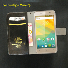 TOP New! Prestigio Muze B3 PSP 3512 DUO Case 5 Colors Flip Leather Case Exclusive Phone Cover Credit Card Holder Wallet+Tracking
