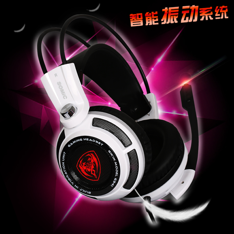 Original Somic G941 7.1 Surround Sound USB Gaming Headset With Vibration Computer headsets Function Mic Voice Control CF Special<br><br>Aliexpress